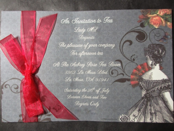 Lady ML's lovely tea invitation