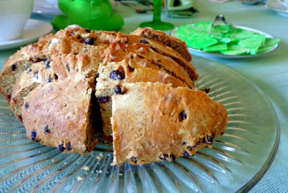 Lady K.'s Irish soda bread and Lady T.s' green shamrock butter