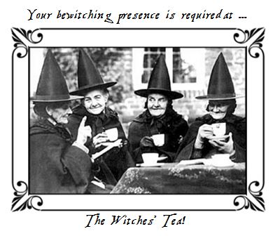 2015 witches tea invitation