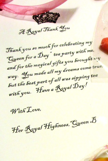 A royal thank you!