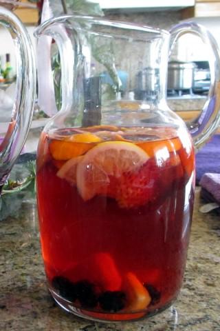 Hibiscus sangria iced tea