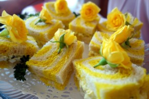 Yellow brick road egg salad sandwiches by Lady MH