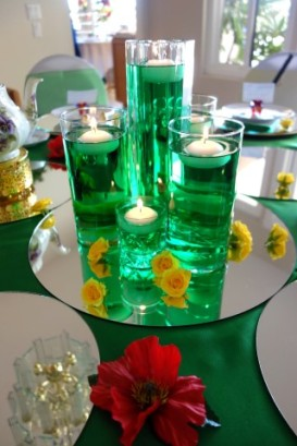 Emerald City centerpiece