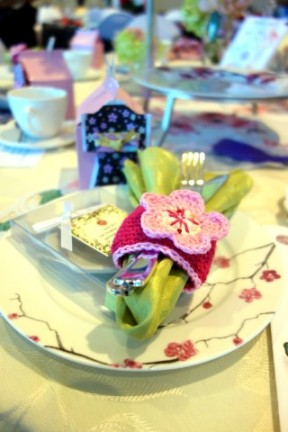 E. crocheted these napkin rings