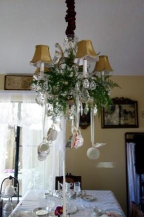 Teacup chandelier