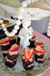 Bonbon cookies and strawberry brownie bites