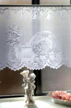 Tea service curtain (photo by Lady B.)