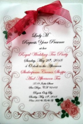 Lady MH's beautfiul invitation